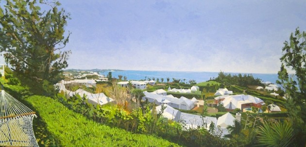 Bermuda view, painting,Bermuda  landscape